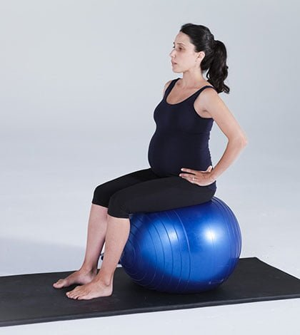 Pregnancy Pilates Series – Seated Ball Stabilisation