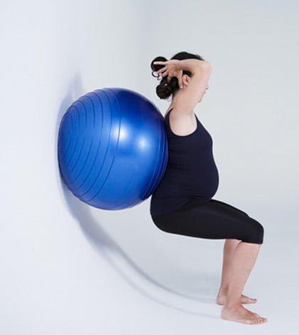 Pilates Pregnancy Series – Ball Squats